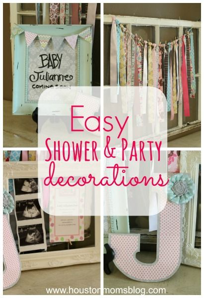 Easy shower and party decor! Via Houston Moms Blog