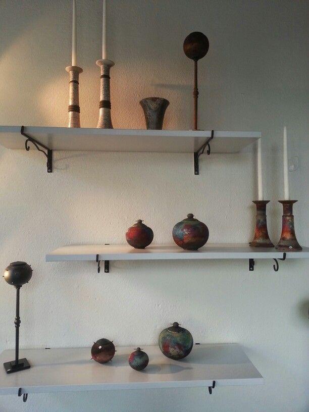 Raku/ Copper matt/ Sawdust fireing