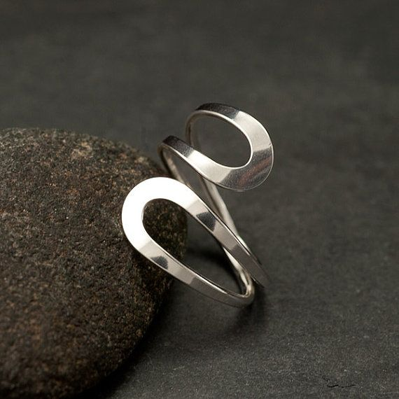 Simple Silver Ring Sterling Silver Ring Modern Silver by Artulia, $48.00