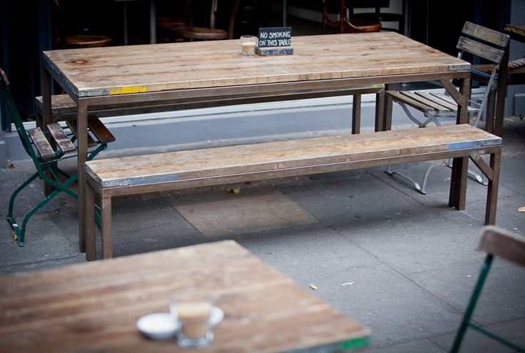 scaffold and steel table
