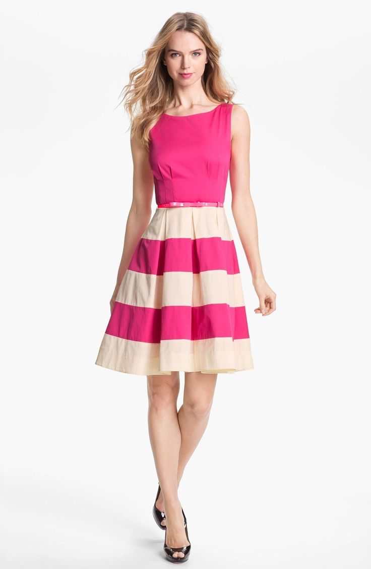 Baker by ted baker babies light pink meshed rose dress debenhams - Fit And Flare Box Pleat Dress Google Search