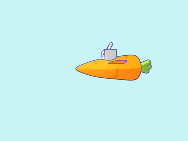 A rabbit flying in a carrot. Some people are actually out in the world doing good and helping people, and this is what I do with my time... animating a rabbit flying in a carrot...  But I'm very ha...