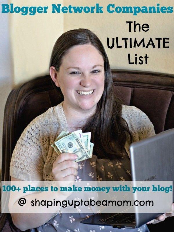 The Ultimate List of Blogger Networks & Media Companies! Make that money, girl! #blogging