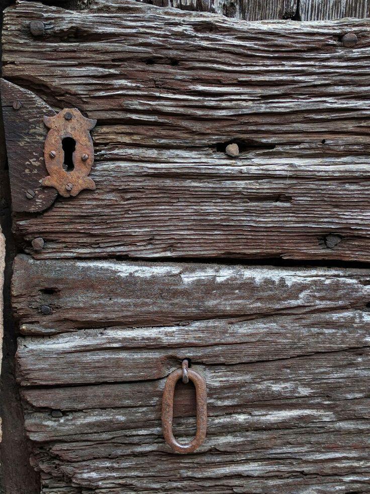 Ulrichen Wallis Switzerland - old wooden door