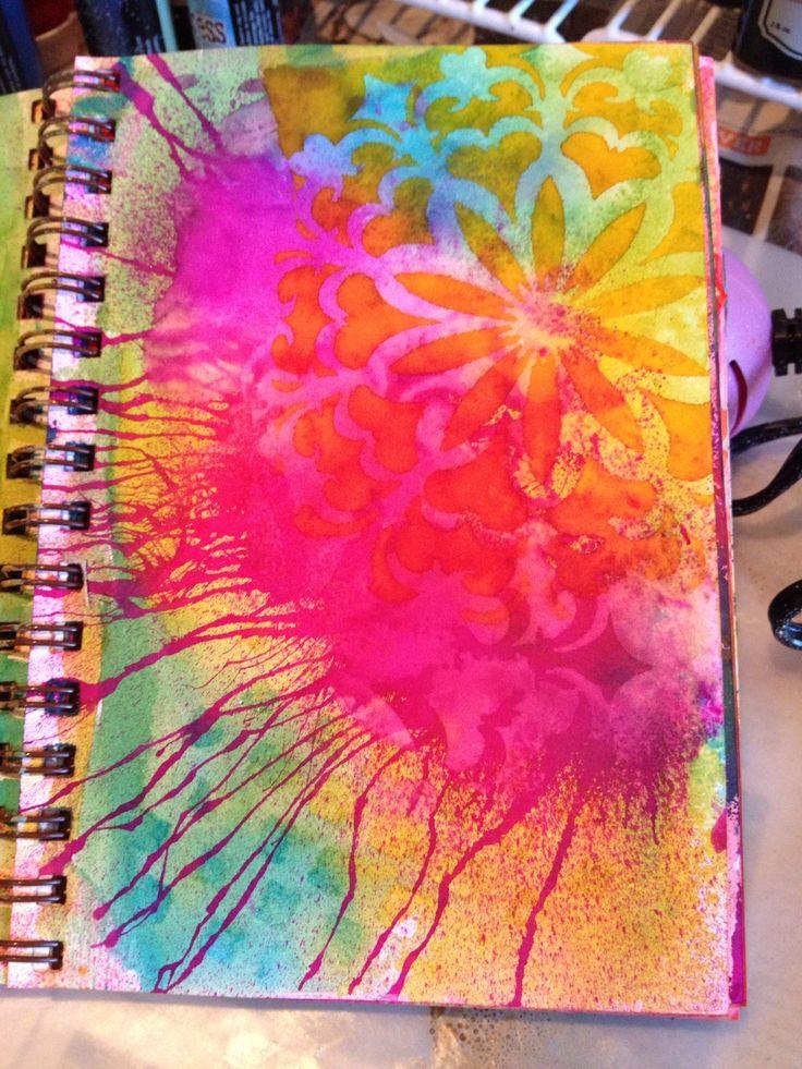 Best 25 art journal backgrounds ideas on pinterest for Journal painting ideas