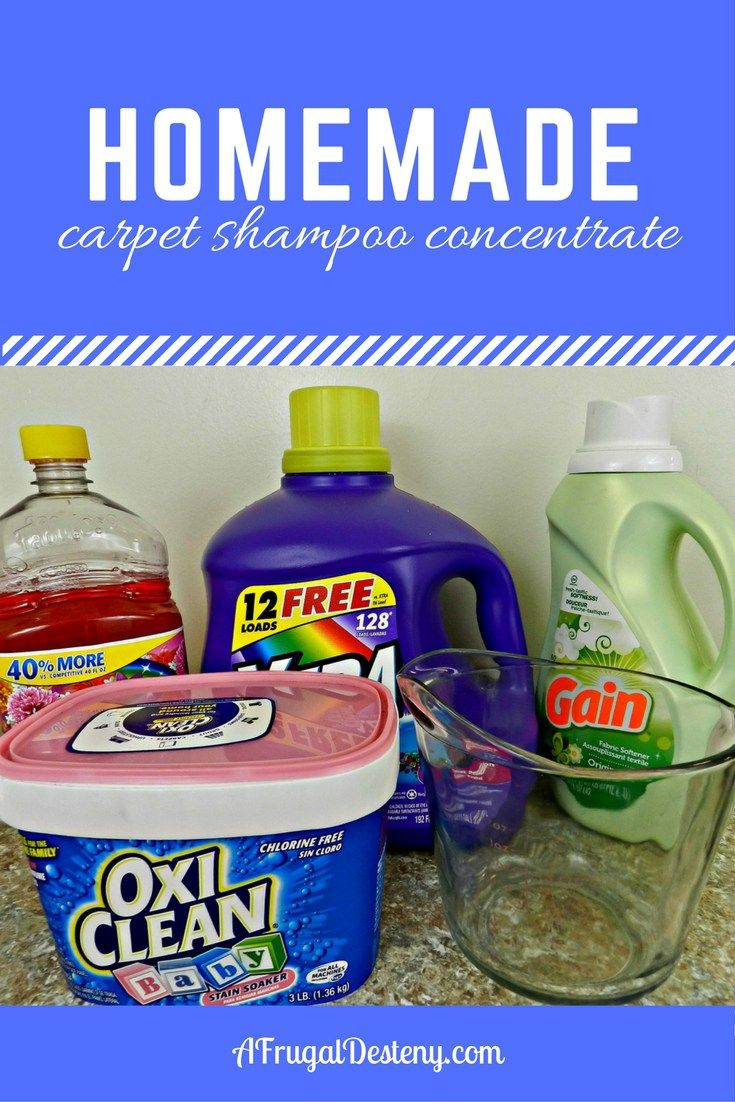 When you have dogs and babies, clean carpets are a necessity! Make your own shampoo for a fraction of the cost of the stuff at the store!