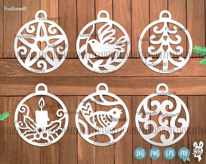 6 Christmas SVG Baubles Bundle SET 1 | Bauble, Christmas ornaments svg | decorations cut files | Christmas Svg | vinyl decal Winter | Cricut For personal and commercial use. -------------------------------------------------------------------------------------------------- Other BIG SVG