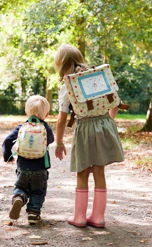 süße Retro-Schulranzen/taschen von Pink Lining Kids