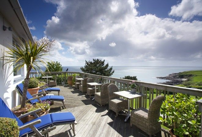 The Driftwood Hotel, Cornwall - fabulous! Stunning views, New England style hotel, Michelin star restaurant.
