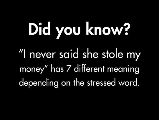 The English language :)