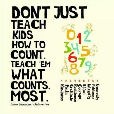 Teach what counts