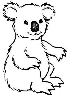 Koala Bear Rubber Stamp WM 2