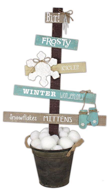 Winter Wonderland Pallet Tree - Revision 3 (with new mitten)