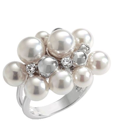 #Majorica Sterling Bubbles #PearlRing Available at www.Ravits.com