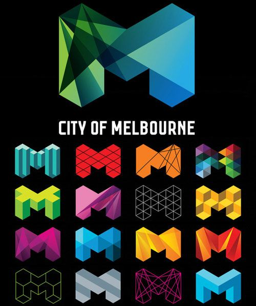 City of Melbourne logo variations. (Image: Behance).