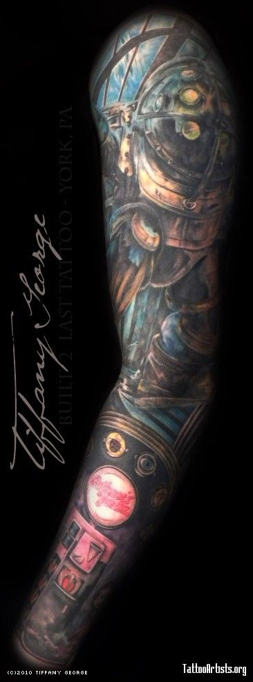 23 best bioshock tattoo images on pinterest bioshock tattoo awesome tattoos and cool tattoos. Black Bedroom Furniture Sets. Home Design Ideas