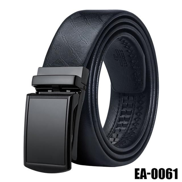 Fashion Genuine Leather Dress Automatic Belts Ratchet Reversible Buckle Men Gift