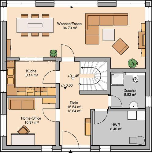 20 besten Grundriss Bilder auf Pinterest Sims, Feierlichkeiten und - offene kuche wohnzimmer grundriss