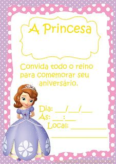 Kit Festa Princesa Sofia Para Imprimir Gr�tis