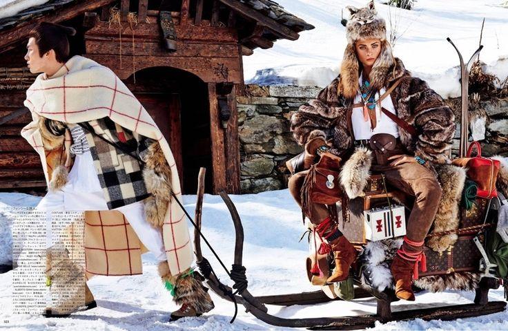 Anna Selezneva Gets Nomadic for Vogue Japan Editorial - Fashion Gone Rogue