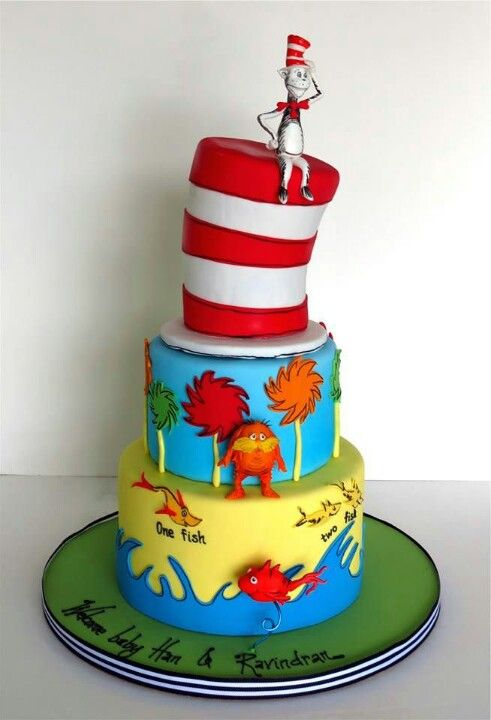 I like this one, very cute.. Dr Seuss cake