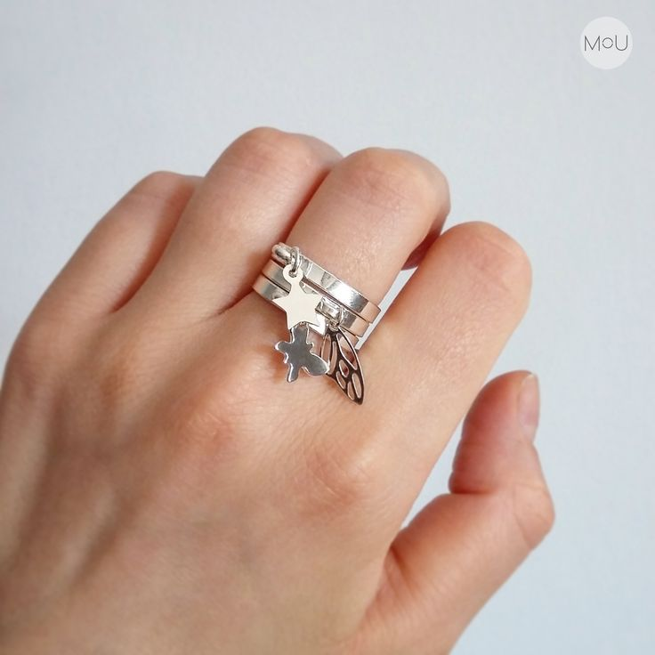 Silver rings in minimalist bohochic style by MOU - available at our online store