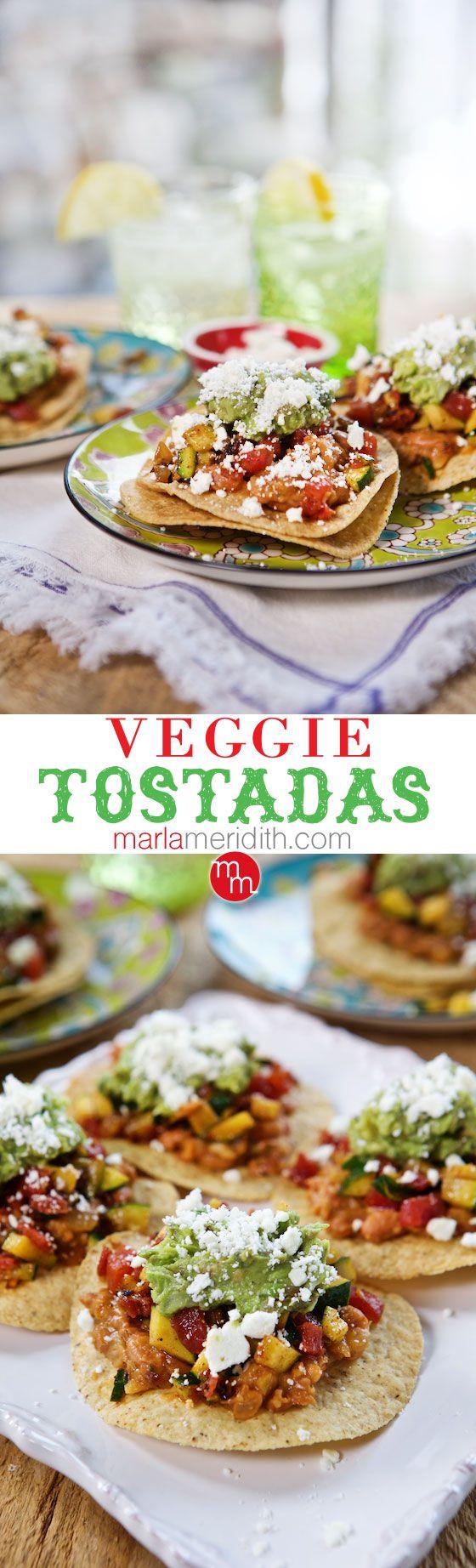 Veggie Tostadas | A delish #recipe for Cinco de Mayo, don't forget the margaritas! | MarlMeridith.com (@marlameridith )