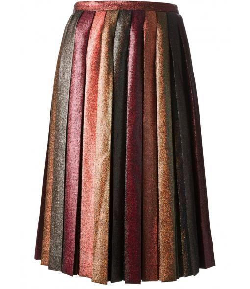 Marco de Vincenzo - Pleated glitter skirt : FALL