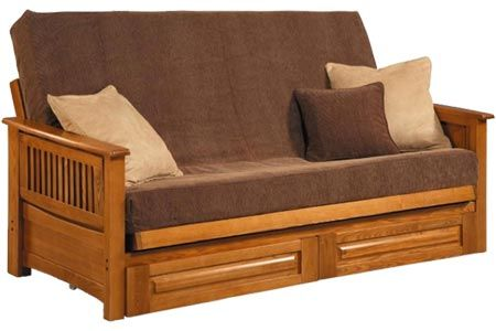 Townsend Solid Oak Futon Frame With drawers! It doesn't get any better! http://www.thefutonshop.com