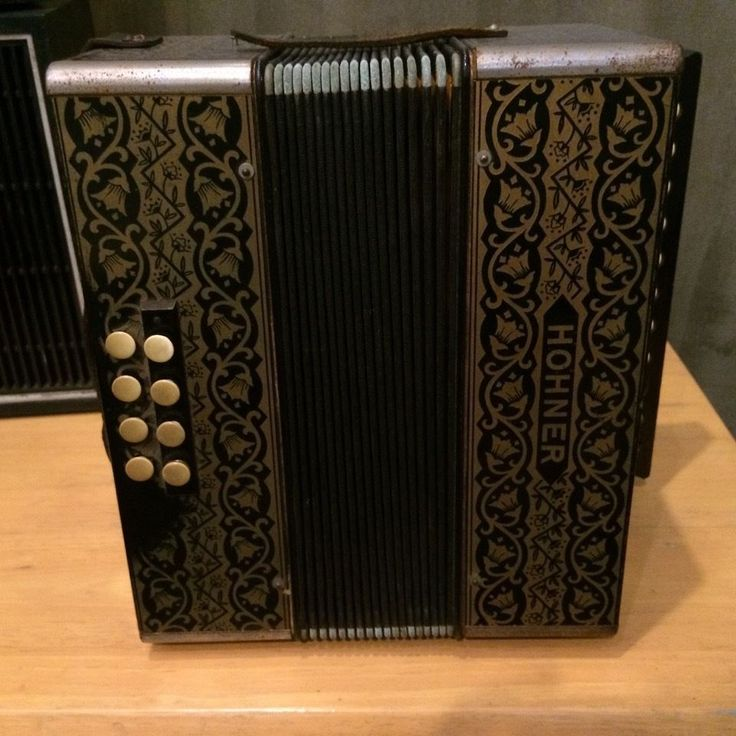 Vintage Hohner Accordion early 1940's Music Instrument #Hohner