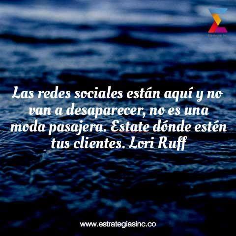Las redes sociales están aquí para quedarse. #RedesSociales #SocialMedia