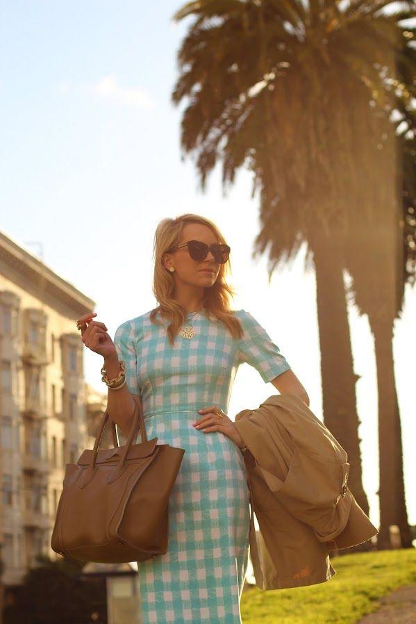 : 1950S Style, Palms Trees, Atlanticpacif Style, Blair Beeeadi, Blue Gingham, The Dresses, Gingham Dresses, Modern Retro, 1950S Classic