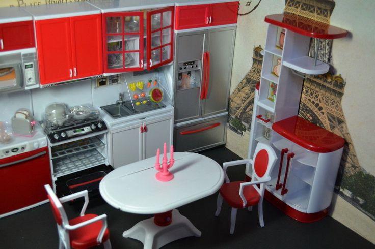 Modern Comfort Barbie Sized Dollhouse Furniture Kitchen