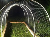30$ 7ft chicken run! help to keep my chickens from destroying my flower gardens