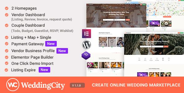 Review Download Weddingcity Directory Listing Wordpress Theme On This Post We Are Discovring O Wordpress Theme Wedding Planner Website Directory Listing