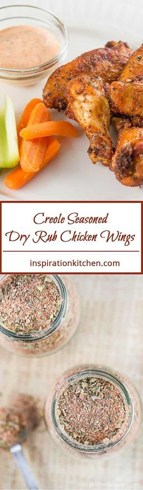 Creole Seasoned Dry Rub Chicken Wings Collage   Inspiration Kitchen