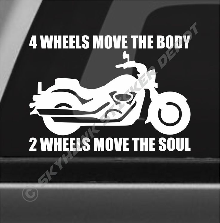 2 Wheels Move The Soul Inspirational Motorcycle Sticker Vinyl Decal for Car SUV #3MAvery