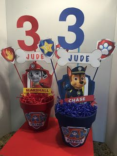 Here are the decorations I made for a Paw Patrol Birthday party...actually, Zombies invade Paw Patrol Adventure Bay!     Super PAWSOME!!  ...