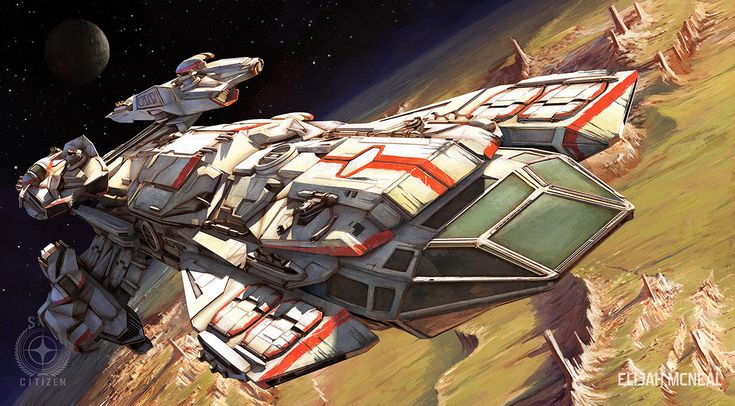 Star Citizen ship illustrations by Elijah McNeal