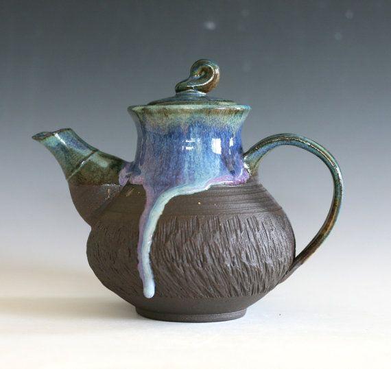 Ceramic Teapot Handmade Stoneware Teapot Ceramic by ocpottery                                                                                                                                                      More
