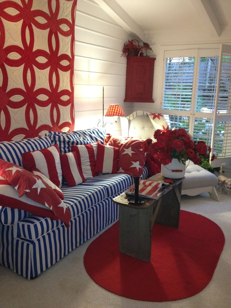 Red White and Blue Cottage Look
