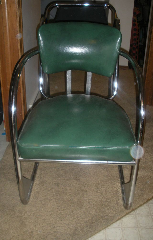 Vintage 1930 S Gas Station Chair Chrome Artdeco Vintage