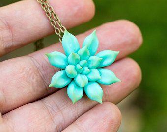 Check out Blue Succulent Pendant Wholesale 3 cm Mini Succulent Plants Arrangement Succulent Jewelry Wedding Bridal Birthday Gifts Small Pendant on eteniren