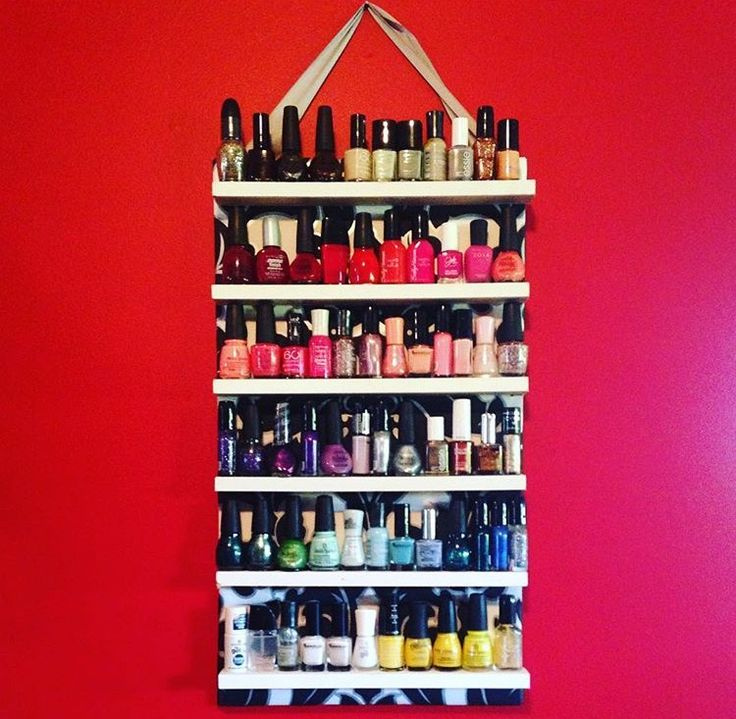 Nail polish shelf for my nail obsessed friend
