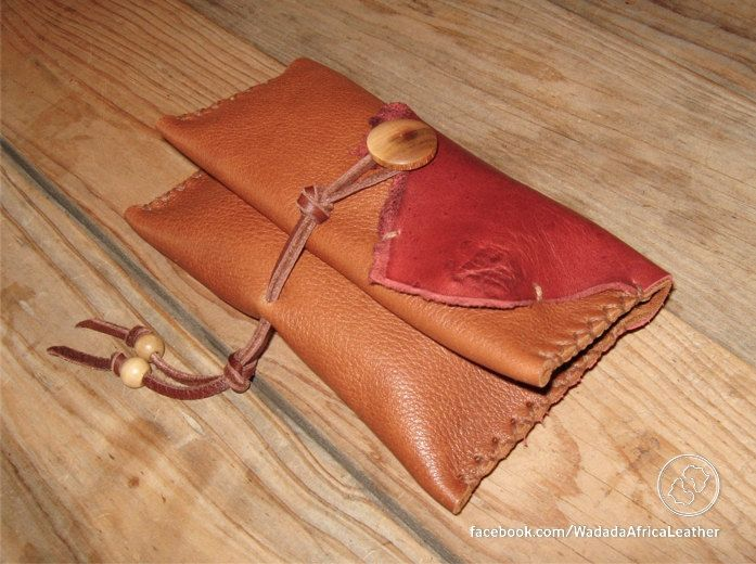 Handmade Upcycled Deerskin Genuine Leather Rolling Tobacco Pouch by WadadaAfrica on Etsy