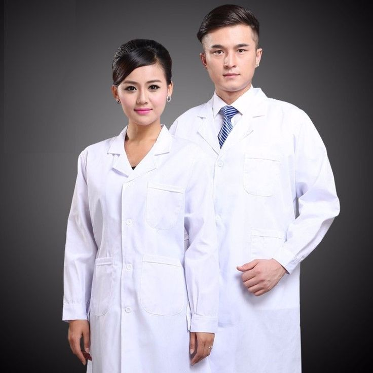 New Mens Womens White Lab Coat Scrub Medical Doctor's Jacket DG003 #medical #doctors #jacket #scrub #coat #womens #white #mens