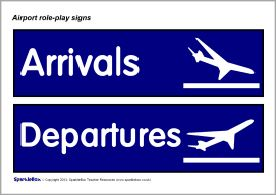 Airport role-play signs (SB9958) - SparkleBox