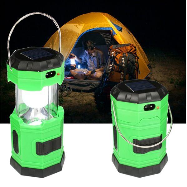 Solar Powered Portable Outdooors 6 LED Stretchable Light Lantern Flashlight Camping Lamp