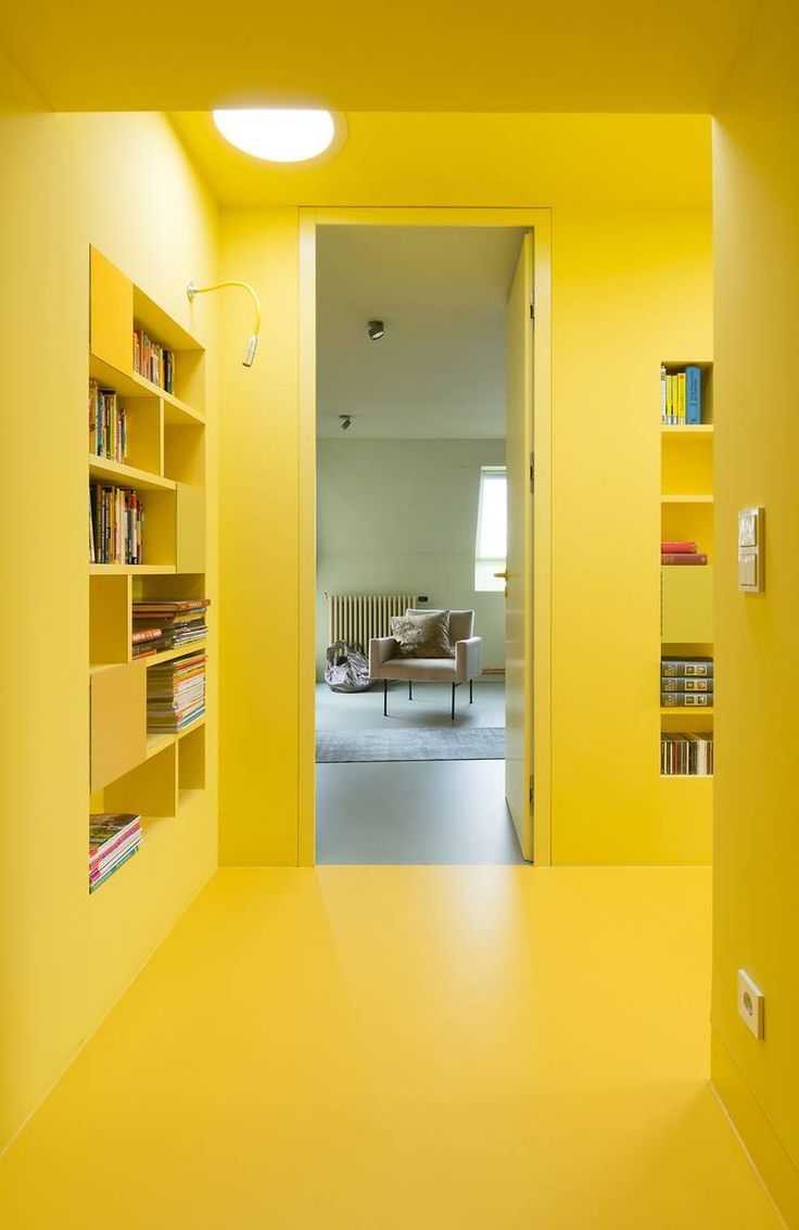 House design yellow - A Modern Home In Berlin That Beautifully Uses Concrete Vibrant Colors
