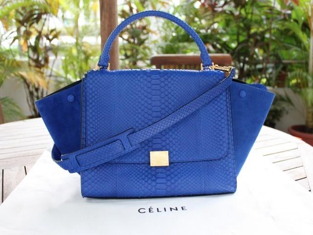Celine Trapeze, python, royal blue | :: Bag \u0026amp; Purse | Quenn \u0026amp; Her ...